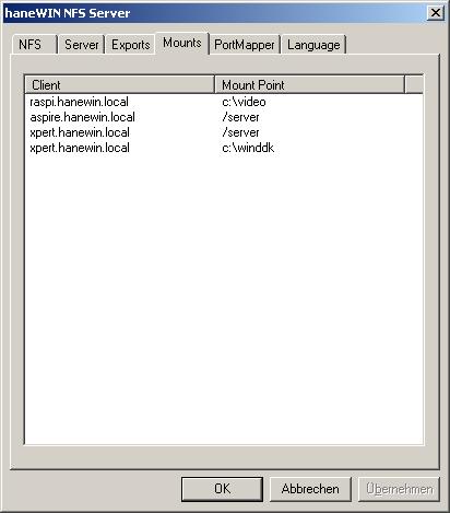 haneWIN NFS Server Documentation